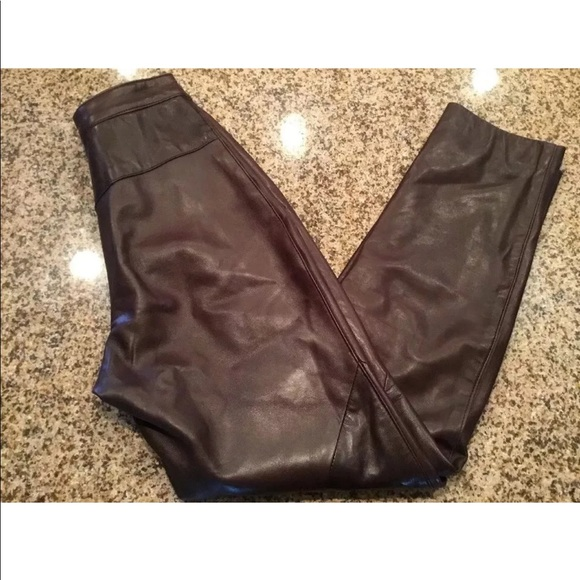 a588cd0f3 Siena Womens Dark Brown Leather Biker Pants Size 4